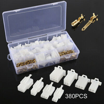 40 Set Motorcycle Car Electrical 2.8mm 2 3 4 6 Pin Wire Connectors Terminal UK