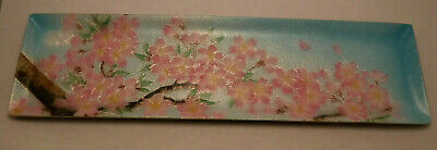 Vintage Chinese / Japanese Hand Painted Enamel Pin Tray Dish Cherry Blossom sgnd