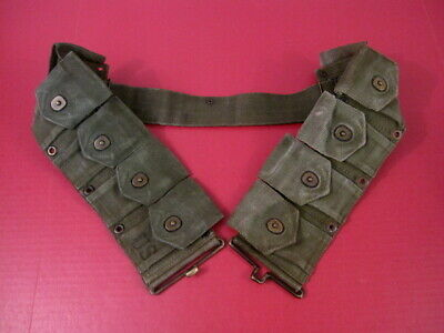 post-WWII US Army Dismounted M1923 Ammunition Cartridge Belt  M1 Garand Nice #1