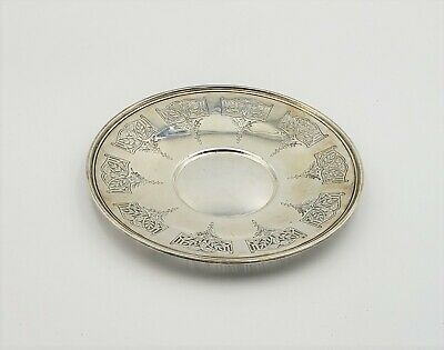 Exquisite Sterling Antique Pierced And Incised Birks Round Tray 9 Inches