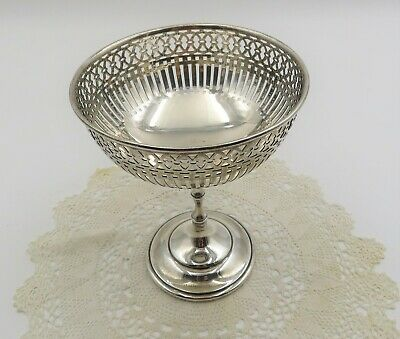 Exquisite Antique Sterling Silver  Pierced Birks Compote 5 3/4 Inches