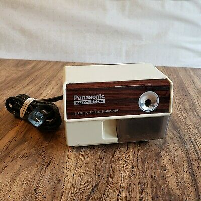 Vintage PANASONIC Auto Stop KP-110 Electric Pencil Sharpener Tested WORKS GREAT!