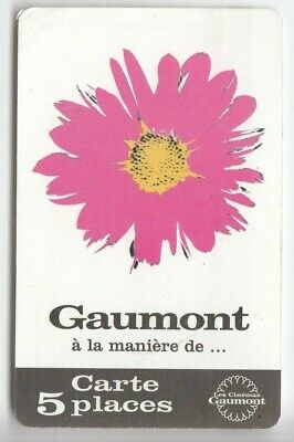 Cinema  Carte / Card .. France Gaumont 5 Places Fleur Flower +N° Magnetique