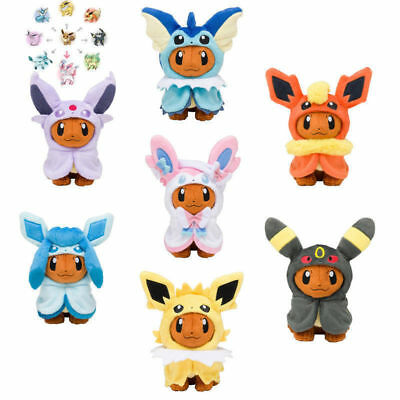 "7"" Pokemon Jolteon Flareon Glaceon Umbreon Espeon Sylveon Plush Toy Stuffed Doll"
