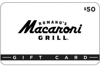 $50 Macaroni Grill Paper Gift Card (Redeem In Restaurant With Card Number!!!)