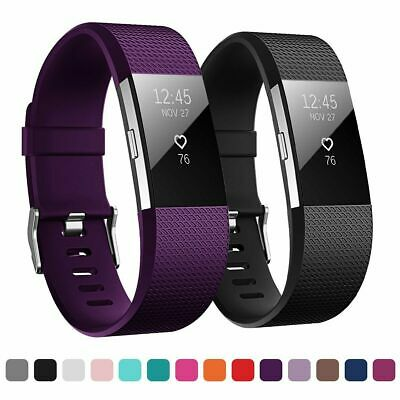 For Fitbit Charge 2 Strap Wrist Band Spare Metal Buckle Wristband Soft Silicone