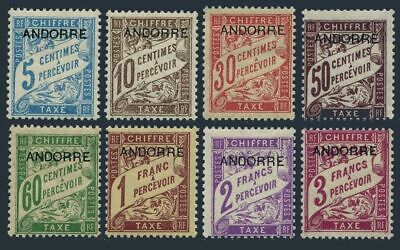 Andorra Fr J1-J8,hinged.Michel P1-P8. Due 1931-1933.France overprinted.