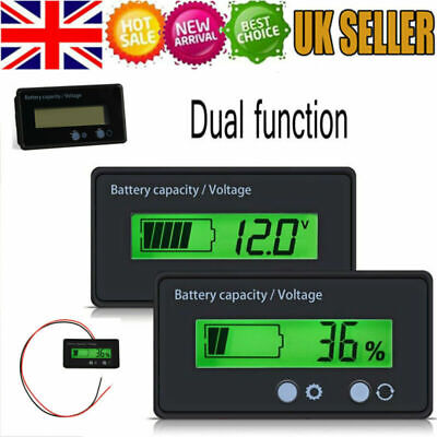 12-48V LED Battery Indicator Voltmeter Monitor Level Meter Gauge Lamp Indicator