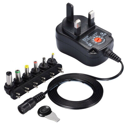 Universal AC/DC Power Supply  Plug Charger Adaptor 3v 4.5v 6v 7.5v 9v 12v