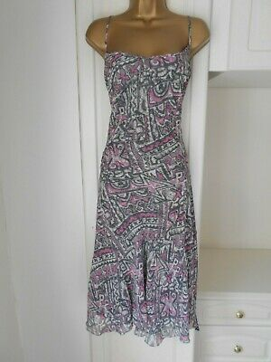 Smart Lined Chiffon Dress By Per Una In Vg Con Size Uk 20 R Bust 46""