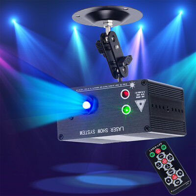 LED RGB Lighting Party DJ Disco KTV 48 Pattern Laser Projector Stage Lights Mini