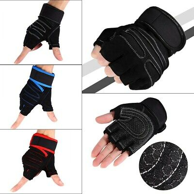 Work Out Gloves Weight Lifting Gym Sport Exercise Training Half Finger durable