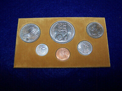 "1976  Singapore  Official  Mint  6  coin  Mint  set  "" YEAR  OF THE  DRAGON "" #1"