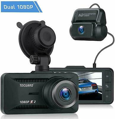 "TOGUARD 3"" FHD 1080P Dash Cam Dual Lens Autokamera Video Recorder DVR Camera DE"