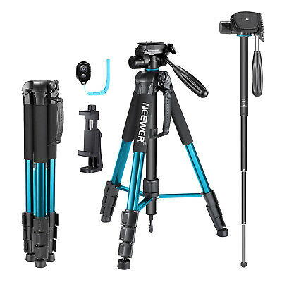 Neewer 70 inches Camera Tripod Monopod with 3-Way Swivel Pan Head for iPhone