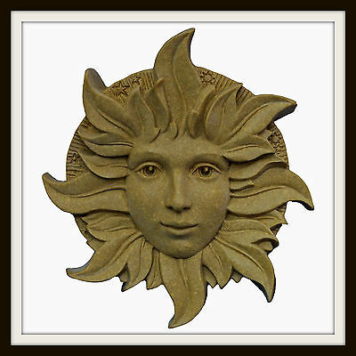 The Solstice Green Woman ~ Greenman Wall Plaque ~ Garden Or Indoors ~ Made In Uk