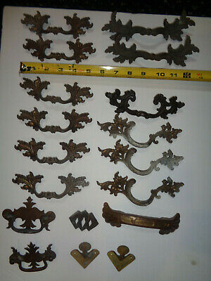 MIXED Lot Of 18 Vntg Ornate French Provincial- Chippendale- Deco Drawer Pulls
