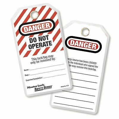 Master Lock Do Not Operate Lockout Tags - 12 Pack - USA BRAND