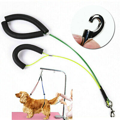 GB No-Sit Pet Haunch Holder Dog Grooming Restraint Harness Leash Loops for Table
