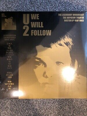 U2 - We Will Follow 1983 Boston Broadcast - Inca Gold Ltd Edt Vinyl Lp