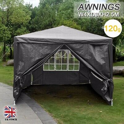 4x3m Gazebo Patio Tent Camping Marquee Outdoor Waterproof Garden Party Canopy