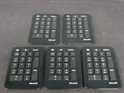 189caa59802 Lot of 5 Microsoft Sculpt Ergonomic Wireless Key Numeric Keypads Black 1558!
