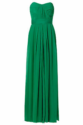 43922c3f92f79 Badgley Mischka Green Women's Size 2 Pleated Ruched Sheath Dress $850- #272