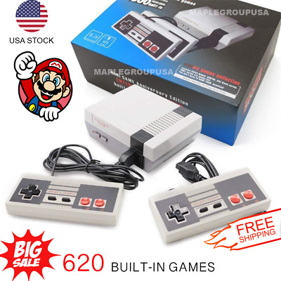 620 Games Built-in Entertainment Mini Classic Game Console with 2 Controllers