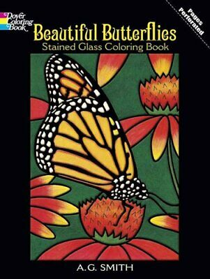 Beautiful Butterflies Stained Glass Coloring Book 9780486430614 | Brand New