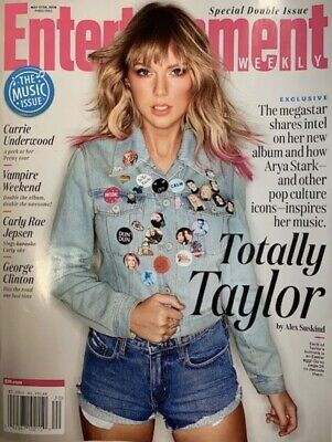 """Taylor Swift Entertainment Weekly May 2019 """"Totally Taylor"""" No Label"""