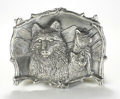 Wolf Great American Products Pewter Belt Buckle Vintage 4226 1995 The Gap