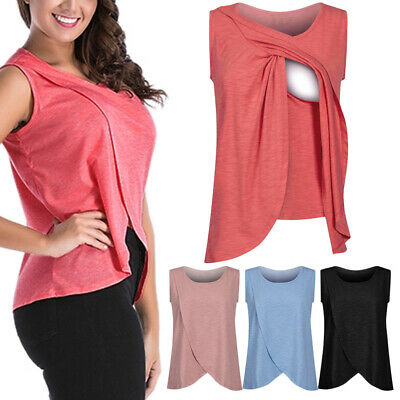 T-shirts Pregnancy Clothing Maternity Clothes Women's Breastfeeding Tops Nursing