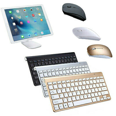 US Wireless Portable Keyboard Ultra Slim With Mouse for Apple Mac/iPad/Laptop/PC