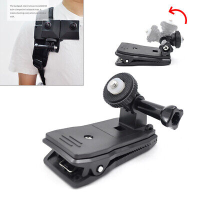 360° Rotary Backpack Belt Clip Bracket Fast Clamp Mount For Insta360 ONE X/EVO