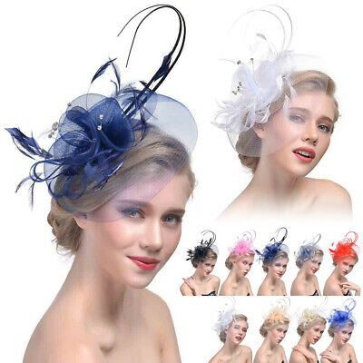 New Lady Wedding Party Sinamay Fascinator Headband Hair Clip Hats Derby Cocktail