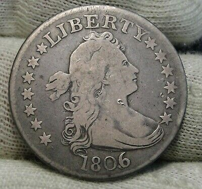 1806/5 Draped Bust Quarter 25 Cents -  Nice Coin, Free Shipping (8381)