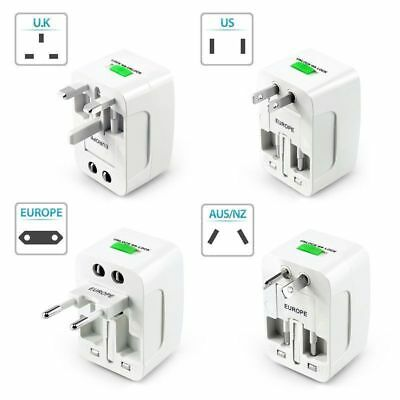 Universal Wall AC Charger Adapter US EU UK AU Plug Converter Power World Travel