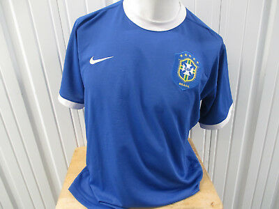 380a2b64d Vintage Nike Brazil National Football Team Large Blue Away Jersey 2014 Kit