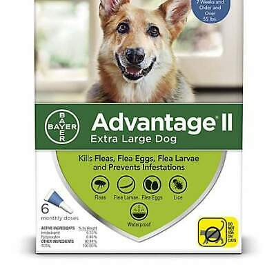 Bayer Advantage II Extra Large For Dogs Over 55 lbs - 6 packs - Free Shipping