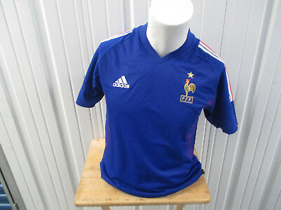 3dc8cad2c64 Vintage Adidas France National Football Team Zidane Small Sewn Jersey 2002  Kit