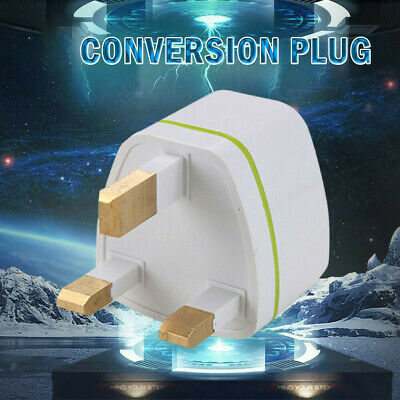 CA Portable EU European US AU to UK Power Socket Plug Adapter Travel Converter