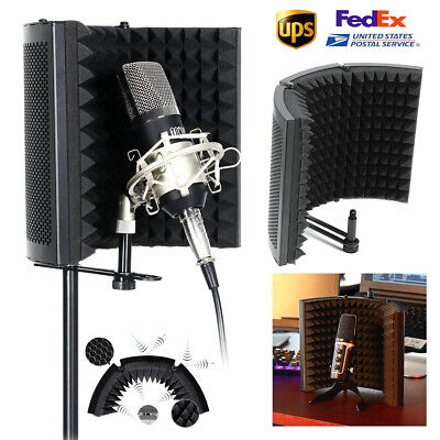 Studio Microphone Isolation Shield Sound Absorber Recording Foam Panel Shield