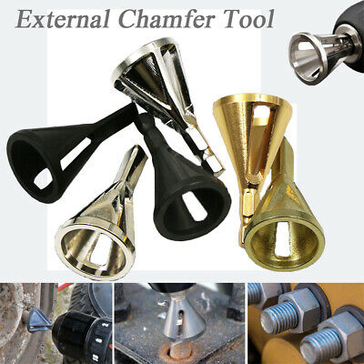 Deburring Drill External Chamfer Bit Repairs Damaged Bolts Remove Burr Tools