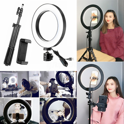 "10"" 26cm LED Studio Ring Light Photo Video Dimmable Lamp Light For Camera Phone"