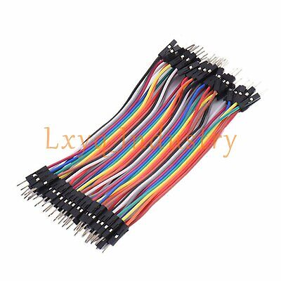 10cm 40pcs Dupont Male To Male Jumper Wire Ribbon Cable for Breadboard Arduino
