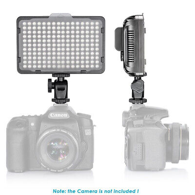 Neewer 176 LED Video Light 5600K on Camera Light Panel with 2600mAh Battery