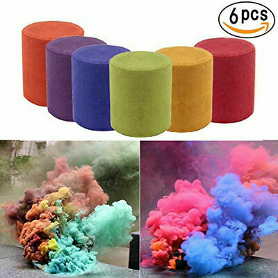 6Pack Smoke Cake Colorful Round Bomb Effect Show Magic Photography Video Aid Toy
