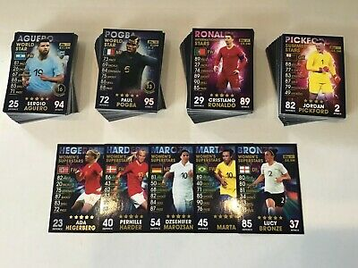 Match Attax 101 Summer Stars/Womens Stars/International Stars/World Stars