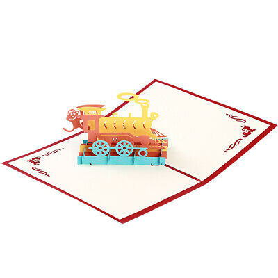 3D Train Design Laser Cut Paper Greeting Card Wedding Party Invitation Cards BS