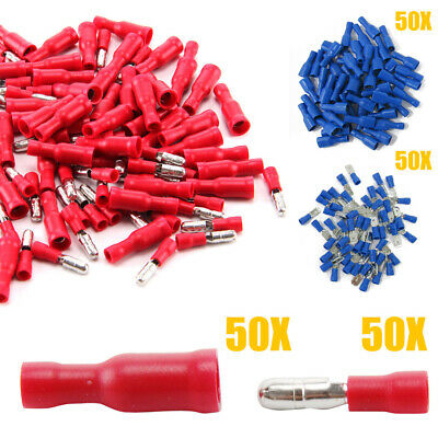 100x bullet Wire connectors insulated crimp terminals for audiowires electrical